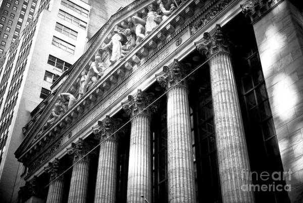Photograph - New York Stock Exchange Shadows by John Rizzuto