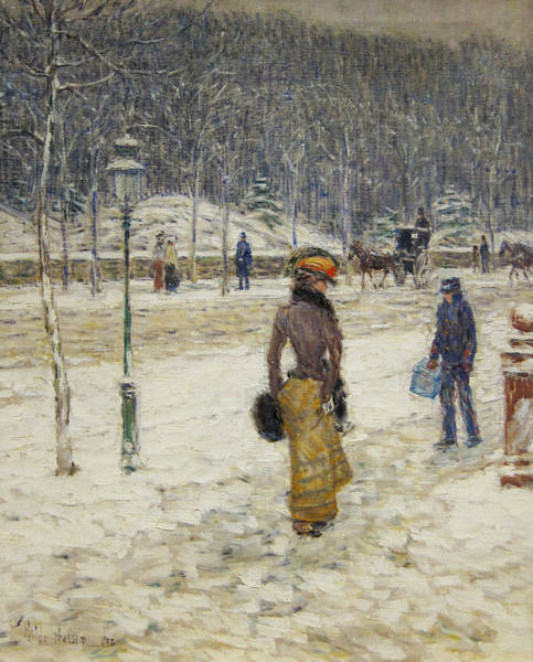 Painting - New York Street by Childe Hassam