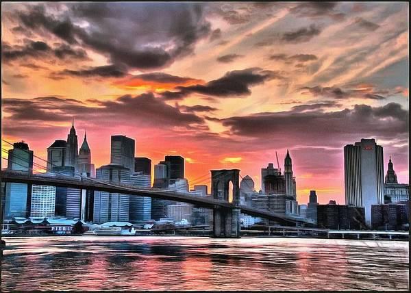 Digital Art - New York Sunset by Charmaine Zoe