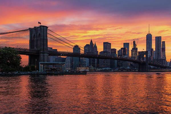Villandry Photograph - New York Sunset by Christopher Villandry