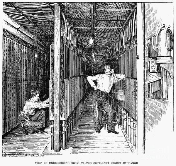 Photograph - New York: Telephone, 1891 by Granger