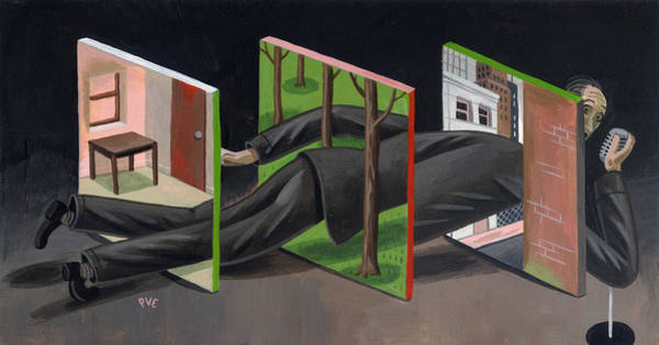 News Drawing - New York Trilogy by Pieter Van Eenoge