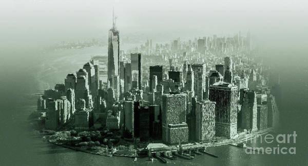 Manhattan Skyline Painting - New York Usa 0kj by Gull G