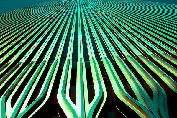 Photograph - New York World Trade Center Facade Before 911 by Peter Potter