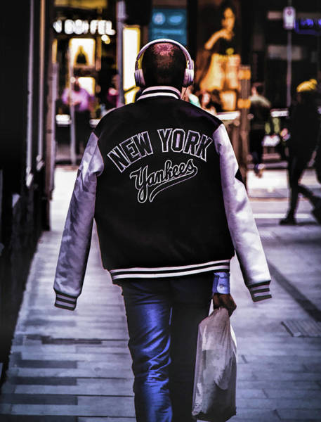 Painting - New York Yankees Baseball Jacket by Christopher Arndt