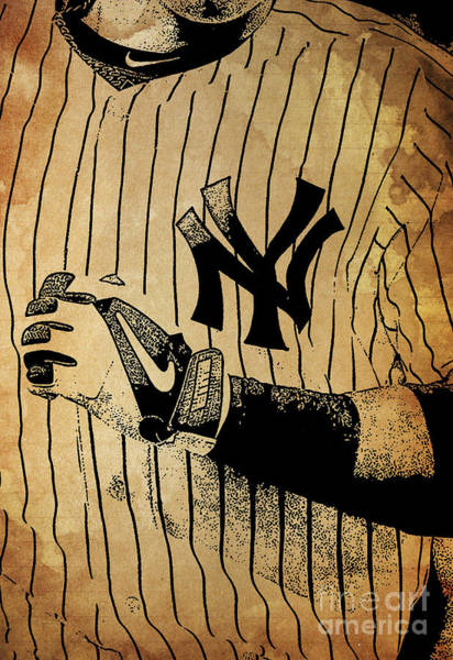 Wall Art - Painting - New York Yankees Baseball Team Vintage Card by Drawspots Illustrations