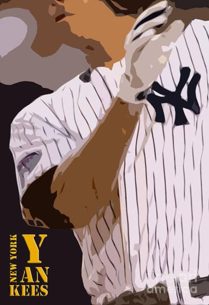 Wall Art - Digital Art - New York Yankees Player by Drawspots Illustrations