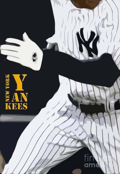 Wall Art - Digital Art - New York Yankees Runner by Drawspots Illustrations