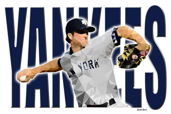 Wall Art - Digital Art - New York Yankees by Stephen Younts
