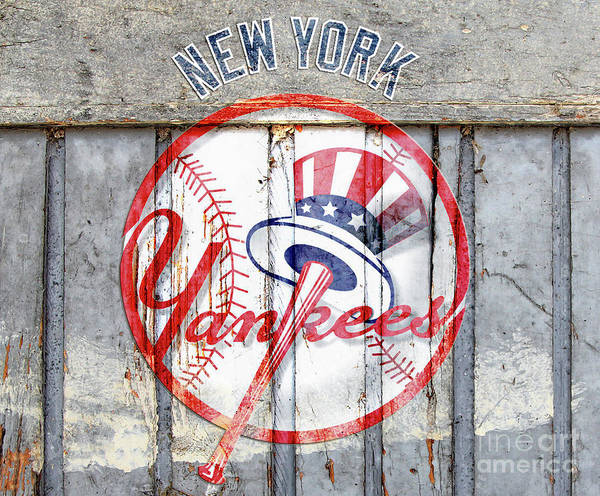 New York Yankees Top Hat Rustic Art Print