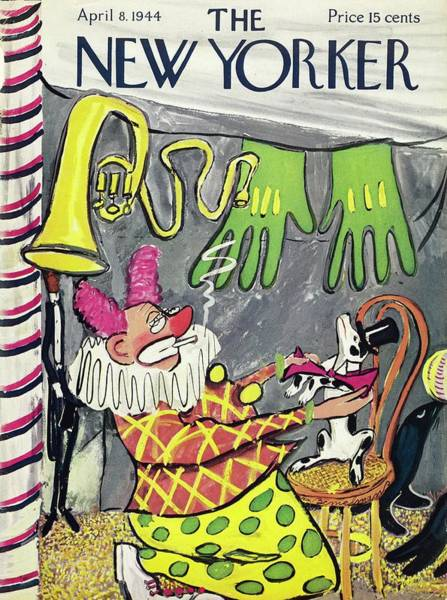 Drawing - New Yorker April 08 1944 by Ludwig Bemelmans