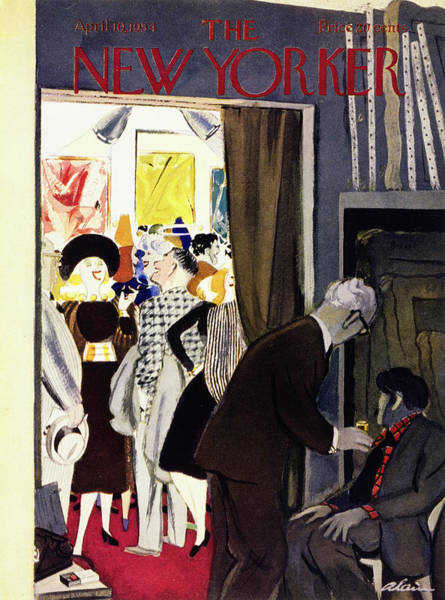 Room Painting - New Yorker April 10 1954 by Daniel Brustlein