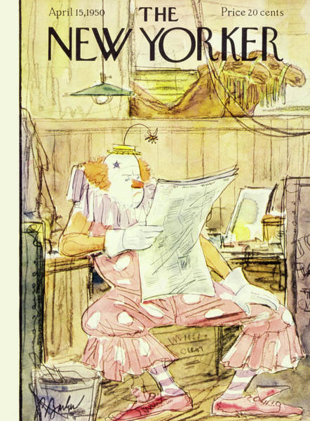 Shoe Painting - New  Yorker April 15 1950 by Perry Barlow