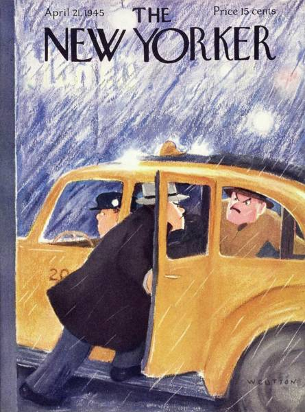 Ride Painting - New Yorker April 21 1945 by William Cotton
