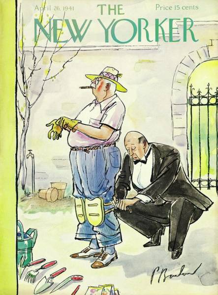Gardening Painting - New Yorker April 26 1941 by Perry Barlow
