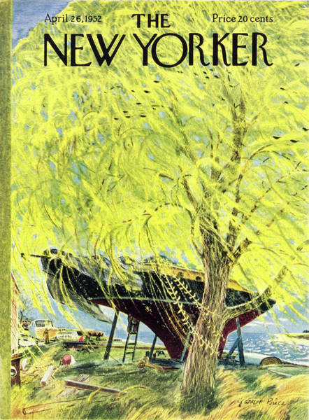 Preparation Painting - New Yorker April 26 1952 by Garrett Price