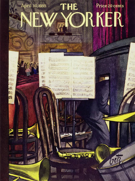 Audience Painting - New Yorker April 30 1955 by Arthur Getz
