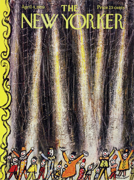Curtain Painting - New Yorker April 4 1959 by Abe Birnbaum