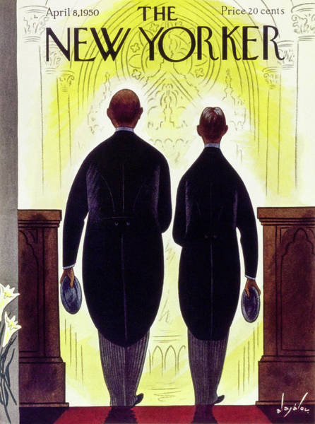 The New Yorker Photograph - New Yorker April 8 1950 by Constantin Alajalov