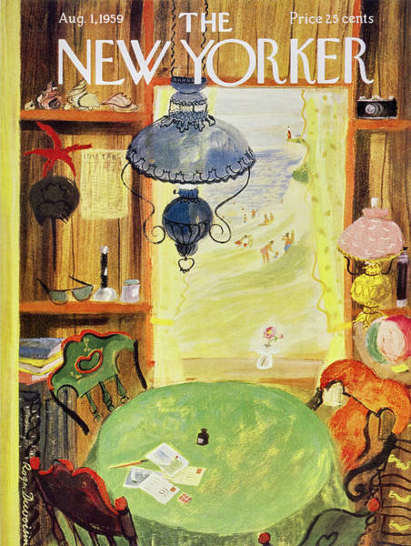 Table Painting - New Yorker August 1 1959 by Roger Duvoisin
