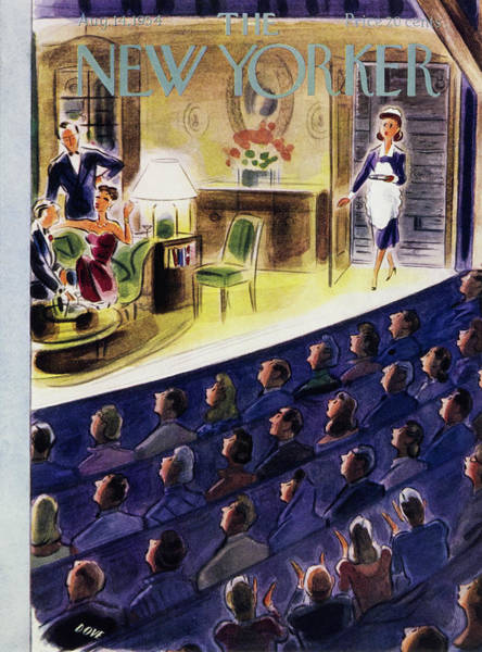 Audience Painting - New Yorker August 14 1954 by Leonard Dove