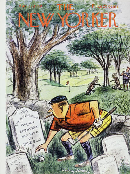 Golf Painting - New Yorker August 22 1959 by Roger Duvoisin