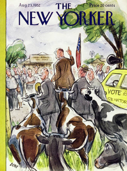Humor Painting - New Yorker August 23 1952 by Leonard Dove