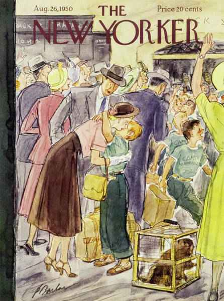 Mother Painting - New Yorker August 26 1950 by Perry Barlow