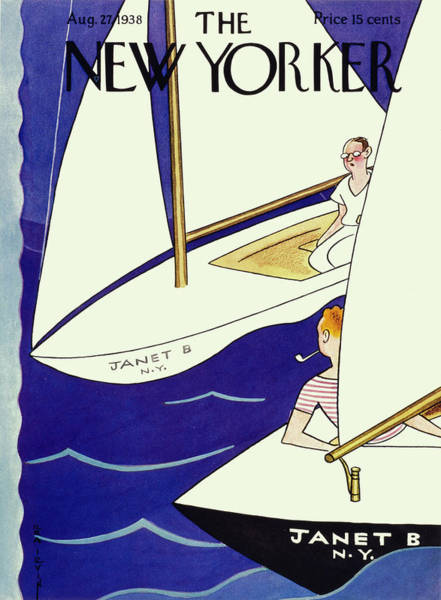 Human Drawing - New Yorker August 27th 1938 by Rea Irvin