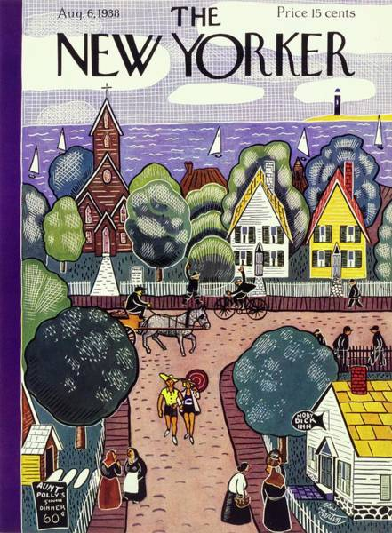 Suburban Painting - New Yorker August 6th, 1938 by Charles E Martin