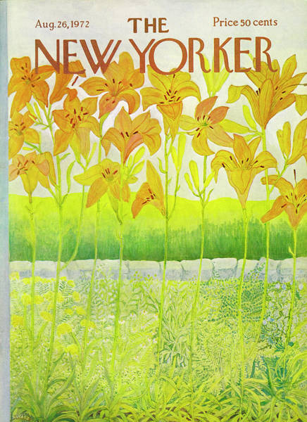Ilonka Drawing - New Yorker Cover August 26 1972  by Ilonka Karasz