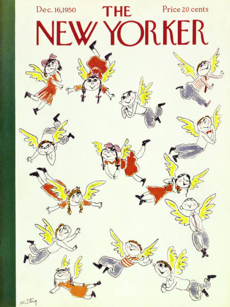 Pink Painting - New Yorker December 16 1950 by William Steig