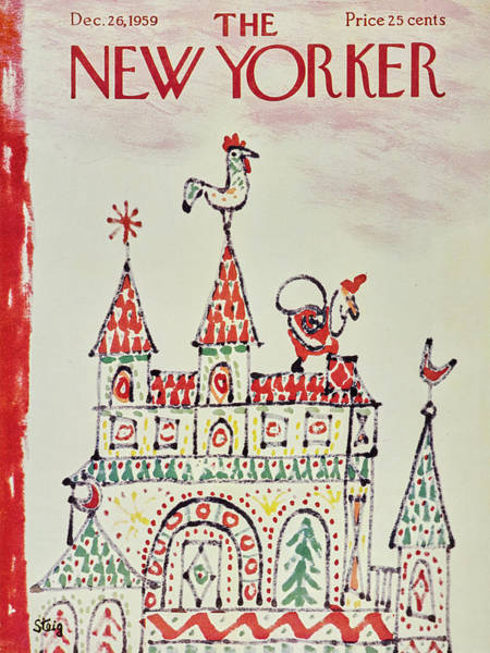 Weathervane Painting - New Yorker December 26 1959 by William Steig