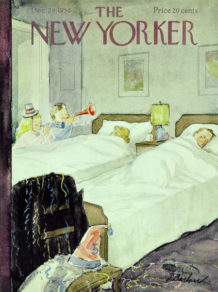 New Yorker December 29 1956painting Art Print
