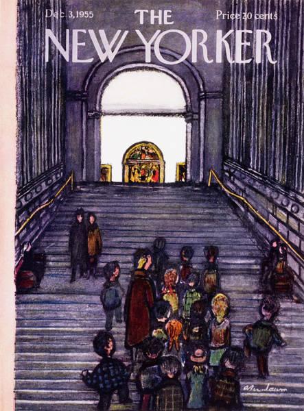Class Painting - New Yorker December 3 1955 by Abe Birnbaum