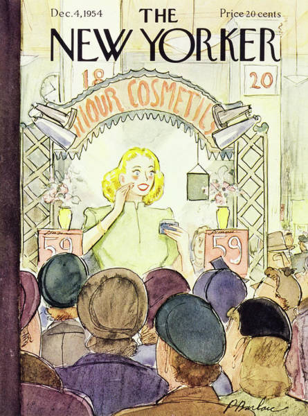 Audience Painting - New Yorker December 4 1954 by Perry Barlow