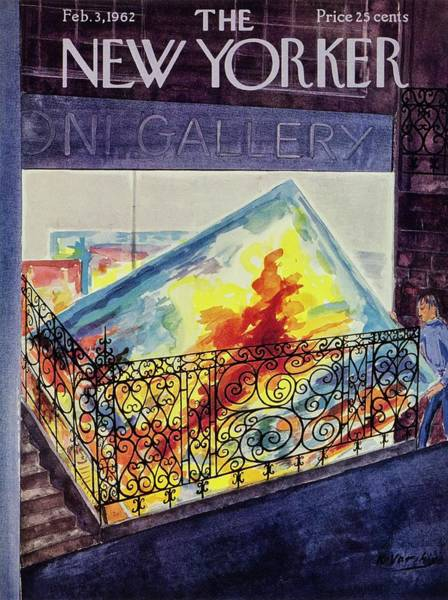 Storefront Drawing - New Yorker February 03 1962 by Anatole Kovarsky