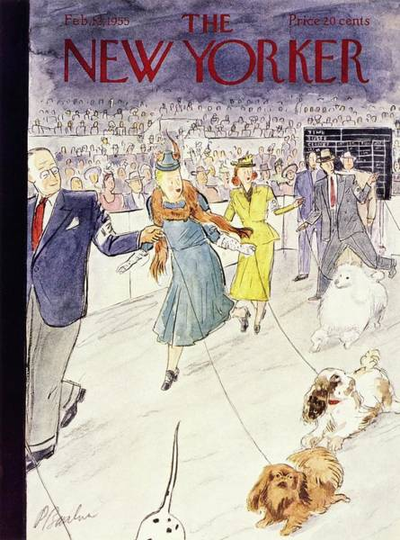 Audience Painting - New Yorker February 12 1955 by Perry Barlow