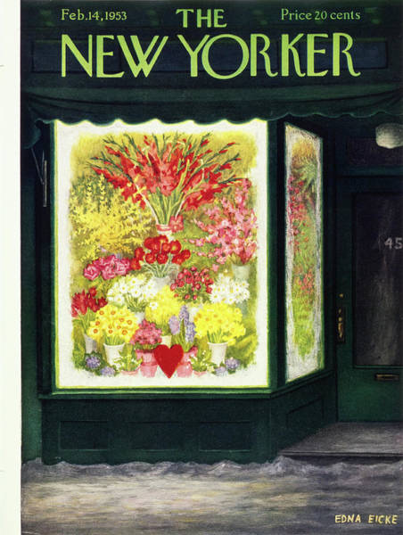 Snowy Painting - New Yorker February 14 1953 by Edna Eicke