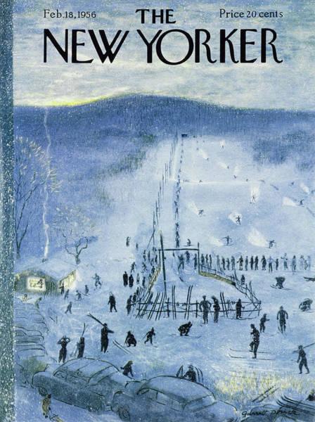 Painting - New Yorker February 18 1956 by Garrett Price