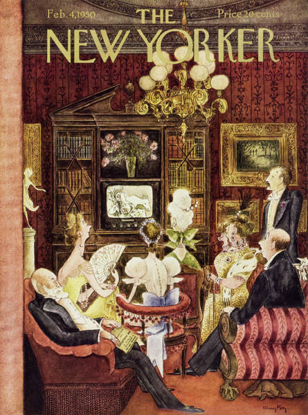 Dinner Painting - New Yorker February 4 1950 by Mary Petty