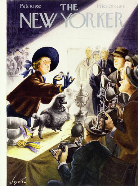 Groom Painting - New Yorker February 9 1952 by Constantin Alajalov