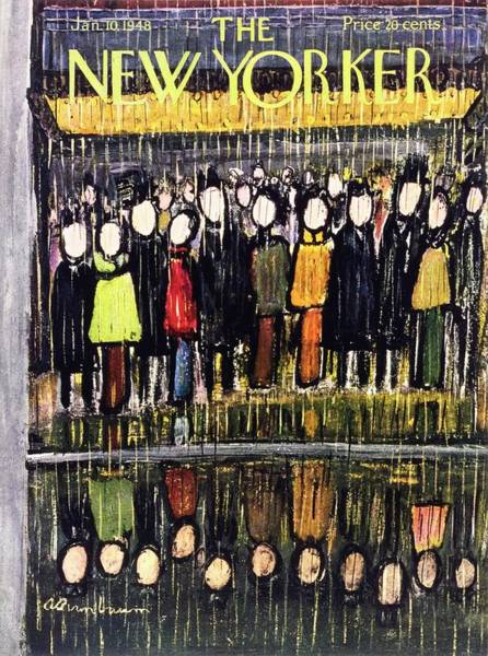 Black Painting - New Yorker January 10 1948 by Abe Birnbaum