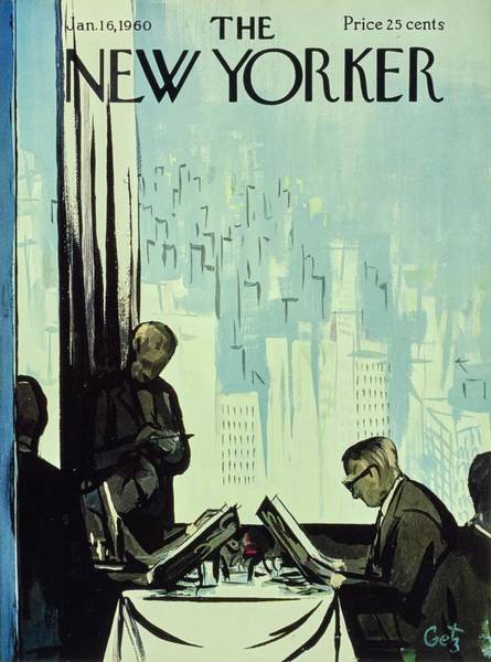Manhattan Drawing - New Yorker January 16 1960 by Arthur Getz