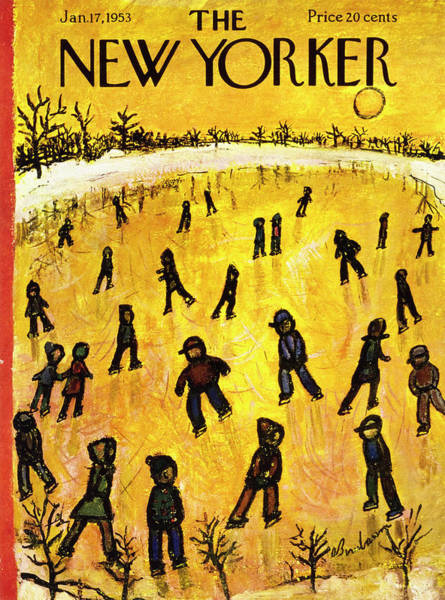 Ice Painting - New Yorker January 17 1953 by Abe Birnbaum
