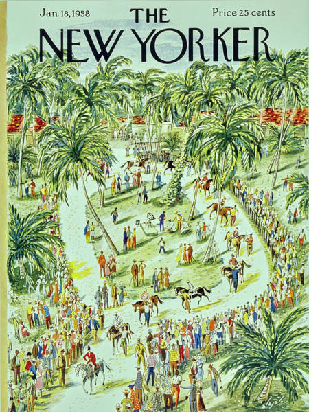 Audience Painting - New Yorker January 18 1958 by Constantin Alajalov