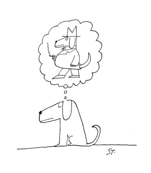 Pet Shop Drawing - New Yorker January 21st, 1961 by Saul Steinberg