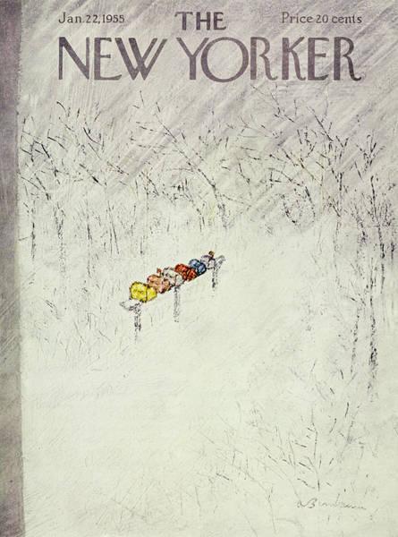 Freezing Painting - New Yorker January 22 1955 by Abe Birnbaum