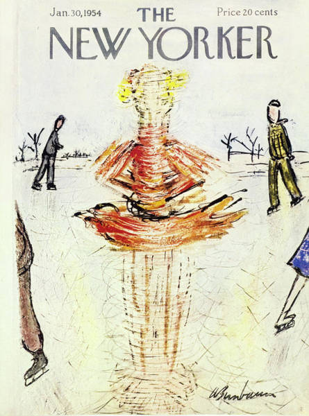 Snowy Painting - New Yorker January 30 1954 by Abe Birnbaum