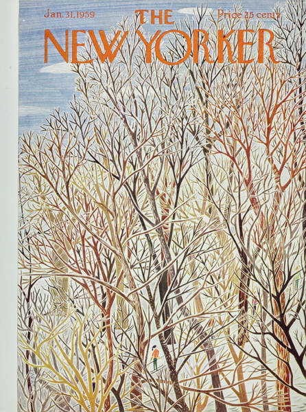 Painting - New Yorker January 31 1959 by Ilonka Karasz